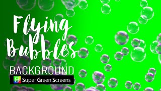 Green Screen : Flying bubbles background HD