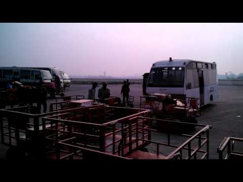 baggage handlers in Nepal airport