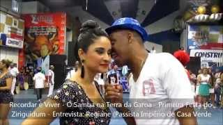Recordar é Viver - O Samba na Terra da Garoa - Primeira Festa do Ziriguidum - Entrevista Regiane