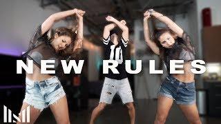 NEW RULES - Dua Lipa Dance | Matt Steffanina ft Wilking Sisters