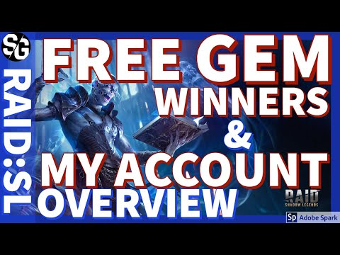 [RAID SHADOW LEGENDS] GEM WINNERS & MY ACCOUNT