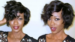 Fierce & Feisty Asymmetrical Pixie Cut (latch hook invisible part weave)