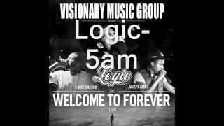 Logic 5AM Lyrics On Screen (Prod by C Sick)