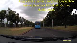 A Kreszprofesszor járja az utakat és magyaráz - a bűnös busz