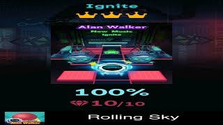 Rolling Sky Level 23 - Ignite - Completed All Diamonds And Crowns