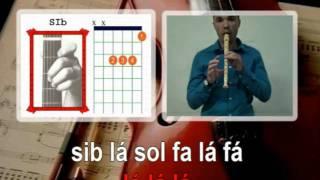 Hey soul sister Train Karaoke para flauta Acordes Guitarra Educação Musical José Galvão