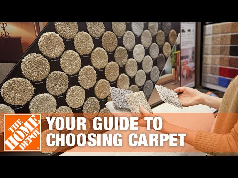 A video details how to choose from the different types of carpet.
