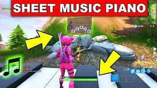 """""""Play the Sheet Music at the Piano near Pleasant Park"""" LOCATION WEEK 6 CHALLENGE Fortnite Season 6"""