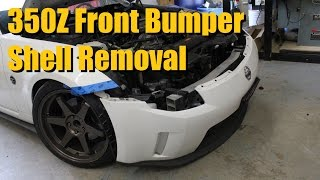 Nissan 350Z Front Bumper Shell Removal