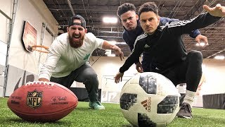 Football vs Soccer Trick Shots | Dude Perfect width=