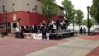 "Brick Street Jazz Festival - Minerva, OH - high school jazz band plays Herbie Hancock's ""Chameleon"""