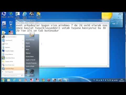 Windows 7 de pencere arası geçiş...