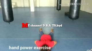Hand power exercise