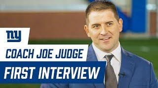 Joe Judge FIRST INTERVIEW as Giants head coach | New York Giants