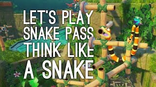 Snake Pass Gameplay: FUNNIEST SNAKE PHYSICS (Let's Play Snake Pass)