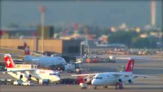 SWISS - An Early July Morning at Zurich Airport (Tilt-Shift)