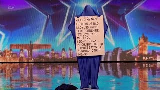 Britain's Got Talent 2016 S10E04 Blue Bag Lady Thankfully Anonymous Full Audition