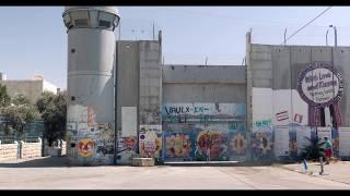 Bethlehem West Bank Palestine Security Wall Run - Run Like Hell, Pink Floyd (4k)