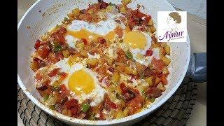 Blitzrezept in 10 Minuten I Bauernfrühstück mit Knoblauchwurst und Kasar Peyniri