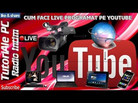 CUM FACI LIVE PROGRAMAT PE YOUTUBE