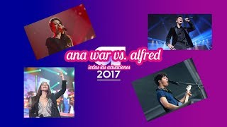 ANA WAR vs ALFRED todas las actuaciones OT 2017