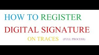 How to Register Digital Signature on Traces