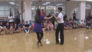 "Cha Cha Demo by Bevan and Jane  to ""Smooth"" by Santana"