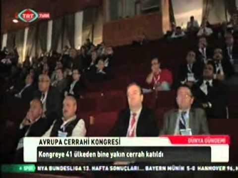 Avrupa Cerrahi Kongresi TRT TÜRK'ün 'Dünya Gündemi'nde.