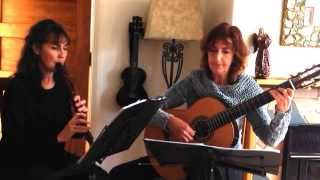 Duo Dolce. Classical Guitar & Woodwind.Time to Say Goodbye.