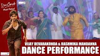 Vijay Deverakonda - Rashmika Dance Performance | Dear Comrade Music Festival | Shreyas Media |