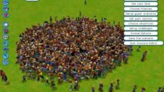 RCT3 Atomic Explosion (1,600 Peeps Involved!) with sound effects
