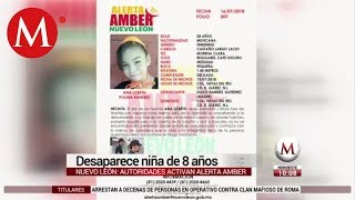 Desaparece niña de 8 años en Nuevo León