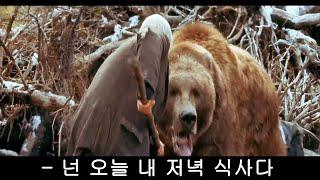 사냥감을 잘 못 고른 식인곰의 최후