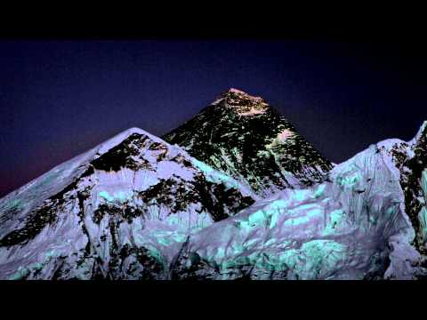 Mount Everest at sunset, Time-lapse video