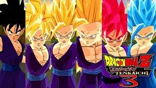 Teen Gohan SSJ,SSJ2,SSJ3,SSJGod and SSJBlue - Dragon Ball Z Budokai Tenkaichi 3