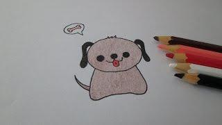 Como desenhar um cachorrinho kawaii