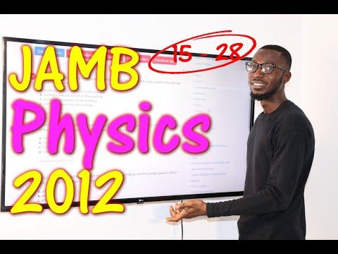 JAMB CBT Physics 2012 Past Questions 15 - 28