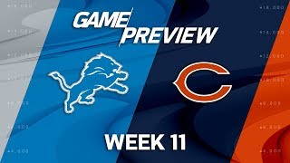 Detroit Lions vs. Chicago Bears | NFL Week 11 Game Preview