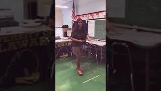Teacher raps to bodak yello