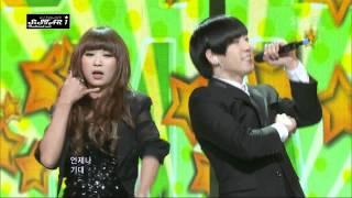 [111211] SBS Inkigayo Electroboyz - Ma Boy 2 feat.HyoLyn