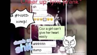 LYRIC PRANK MY GIRL-FRIEND(Cheer up/ Korea)