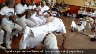 Mestre Joåo Grande and CM Jurandir (Son) opening Roda at Capoeira Angola Center of New York - Harlem
