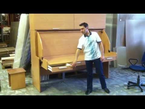Подъемная кровать стол.MOV