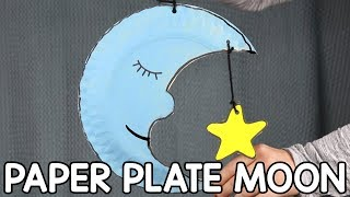 Moon Paper Plate Craft for Kids