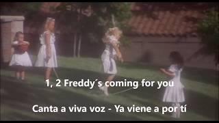 Canción niñas Pesadilla En Elm Street, subtitulada inglés, castellano y latino.
