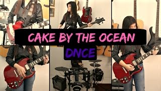 "Girl Covers ""Cake By The Ocean"" On 3 Instruments!"