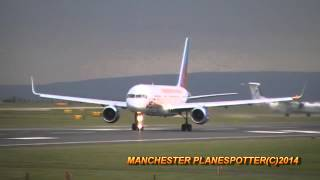 Jet2 Boeing 757 G-LSAK On ???? Taking Off At Manchester Airport On 26/09/2014