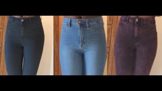 High waisted jeans for $10   skinny jeans (H & M)