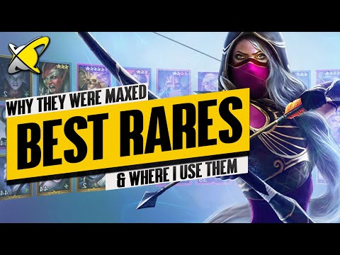 ALL THE RARES I EVER MAXED... & WHY!! | The Best Rare Champions in RAID: Shadow Legends