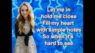 Sabrina Carpenter - We'll be the stars (lyrics)